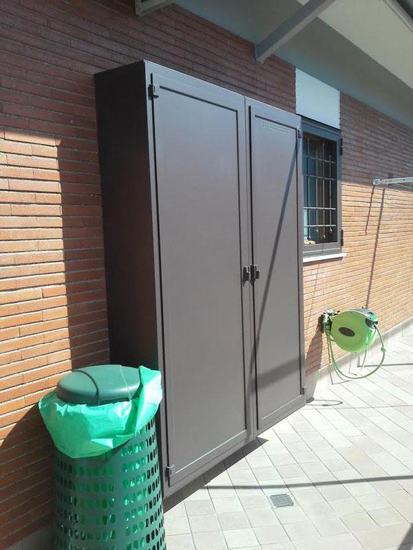 armadio copricaldaia ripostiglio in alluminio